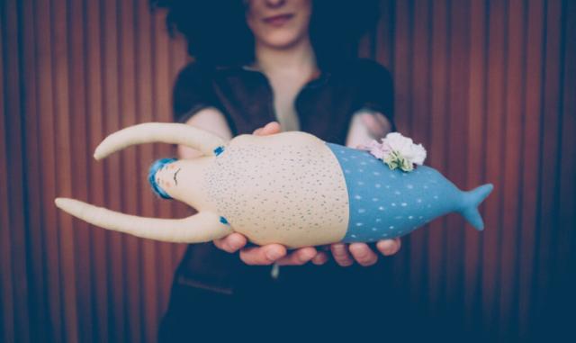 sirenetto in stoffa fatto a mano handmade merman